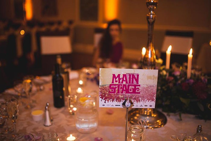 Wedfest table name
