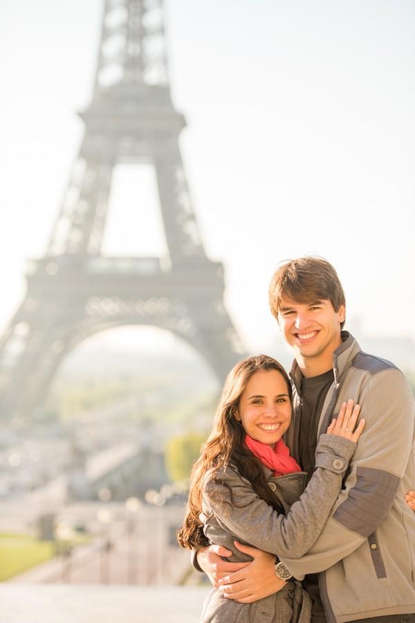 Parisian Engagement Shoot By Pictours Paris