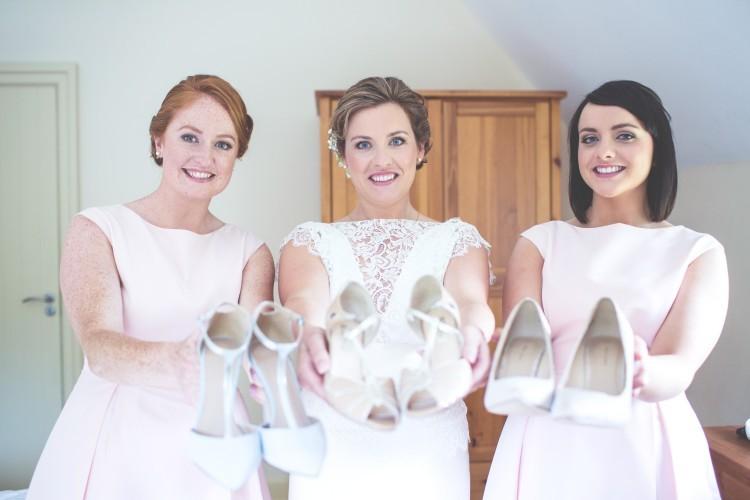 brides and bridesmaids shoes