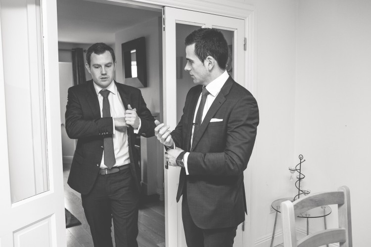 groomsmen Tommy Hilfiger suits