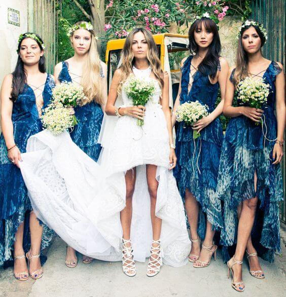 Boho bridesmaids style