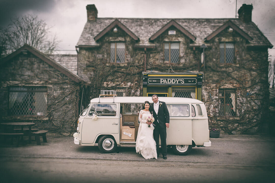Eilis & Garrett and their fab retro VW wedding camper van