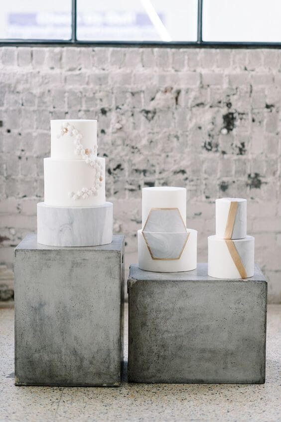 geometric-modern-minimalist-wedding-cake-decor