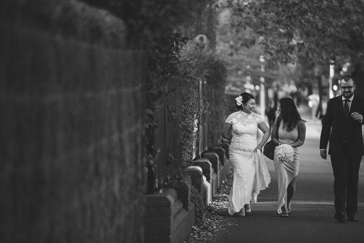 11-intimate-St-Kilda-outdoor-wedding-walking-to-ceremony