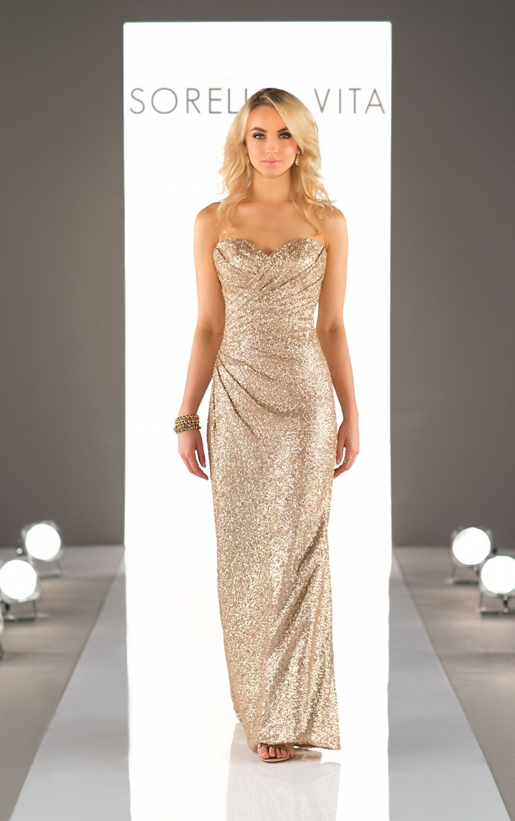 7 Stunning Gold Bridesmaid Dresses for