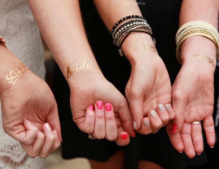 bride-squad-gold-hen-party-tattoos-photoshoot-boudoir-girls