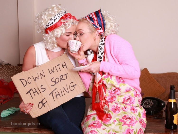 father-ted-themed-hen-party-ideas-photoshoot-boudoir-girls