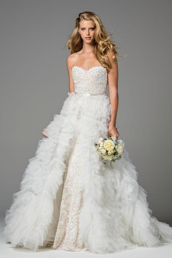 vestido de novia con dos looks
