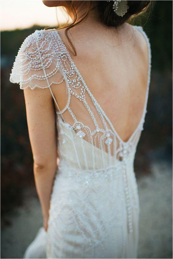 Vestidos de novia con detalle de espalda