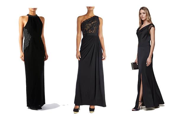 black tie evening gowns