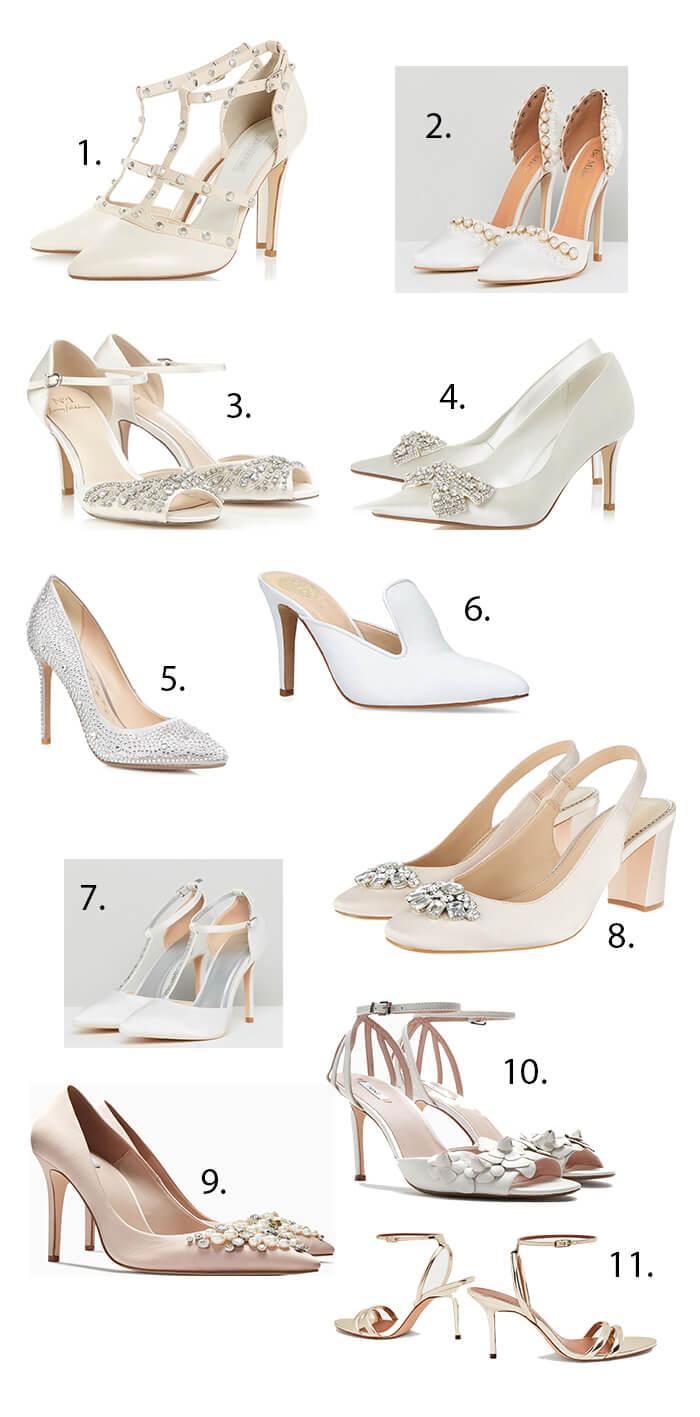 11 Gorgeous High Street Bridal Shoes