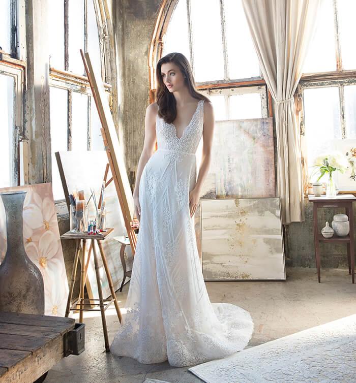 Vestidos de novia adornados