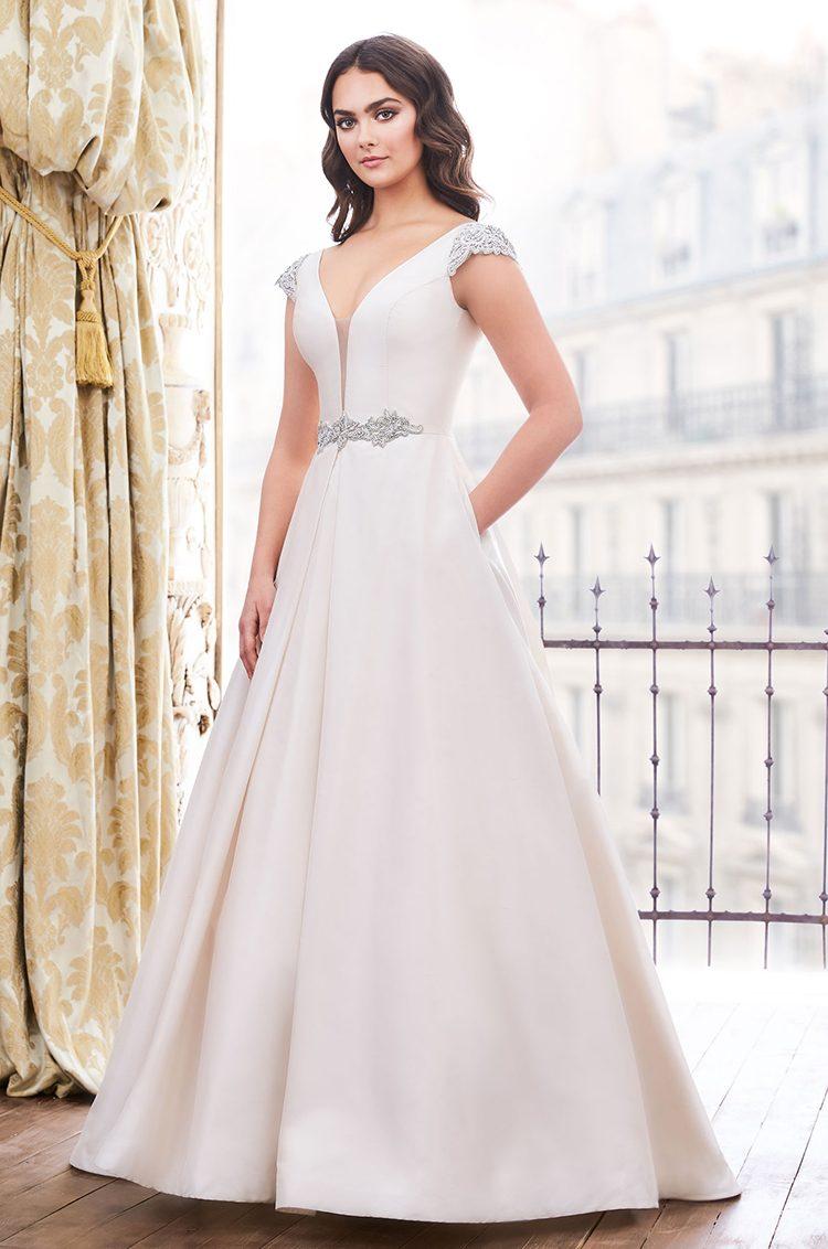 Vestido de novia brillante