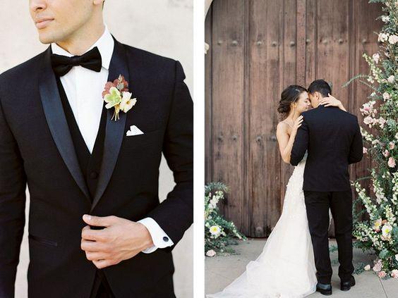 black tie groom