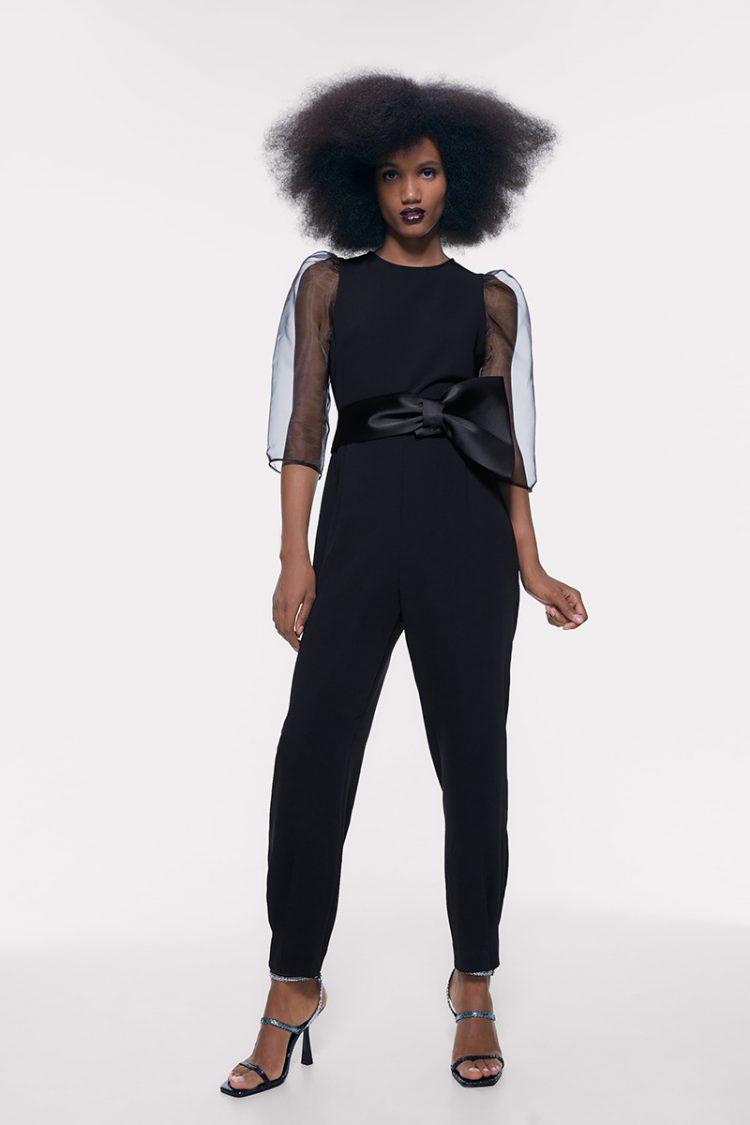 Puff sleeve jumpsuit, Zara