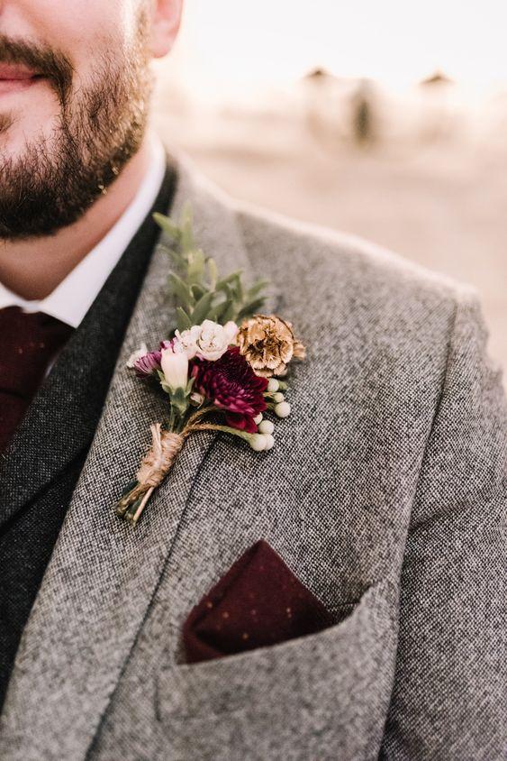 winter buttonhole