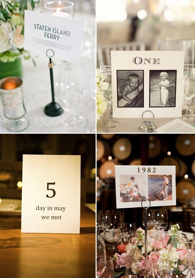 40 Creative Wedding Table Name Ideas | weddingsonline