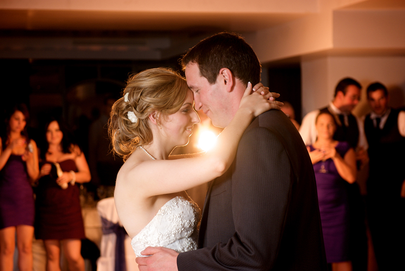 bride and groom first dance romantic