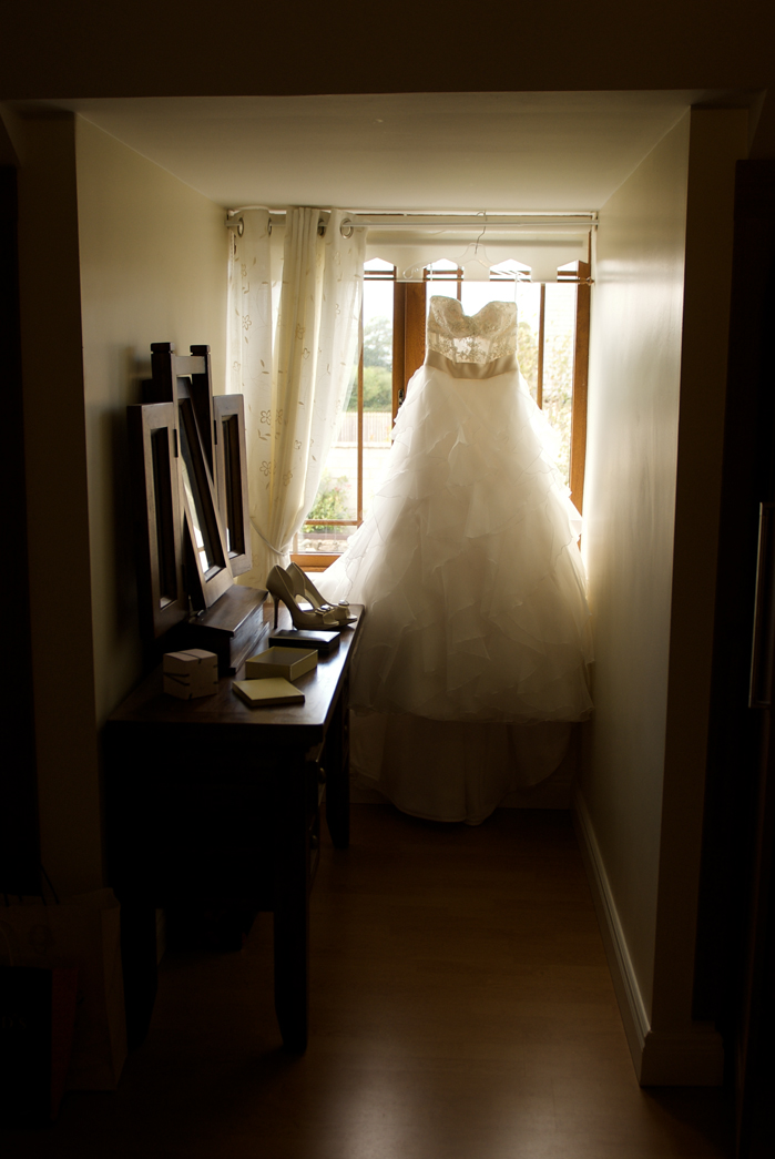 wedding dress photo window