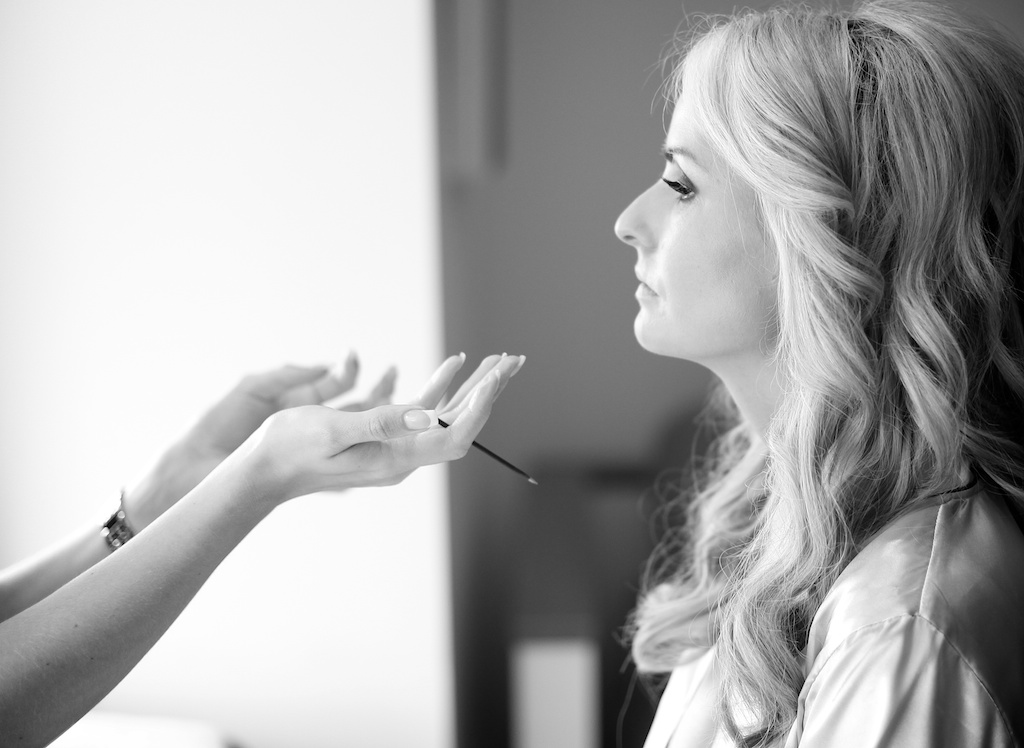 bride getting make-up