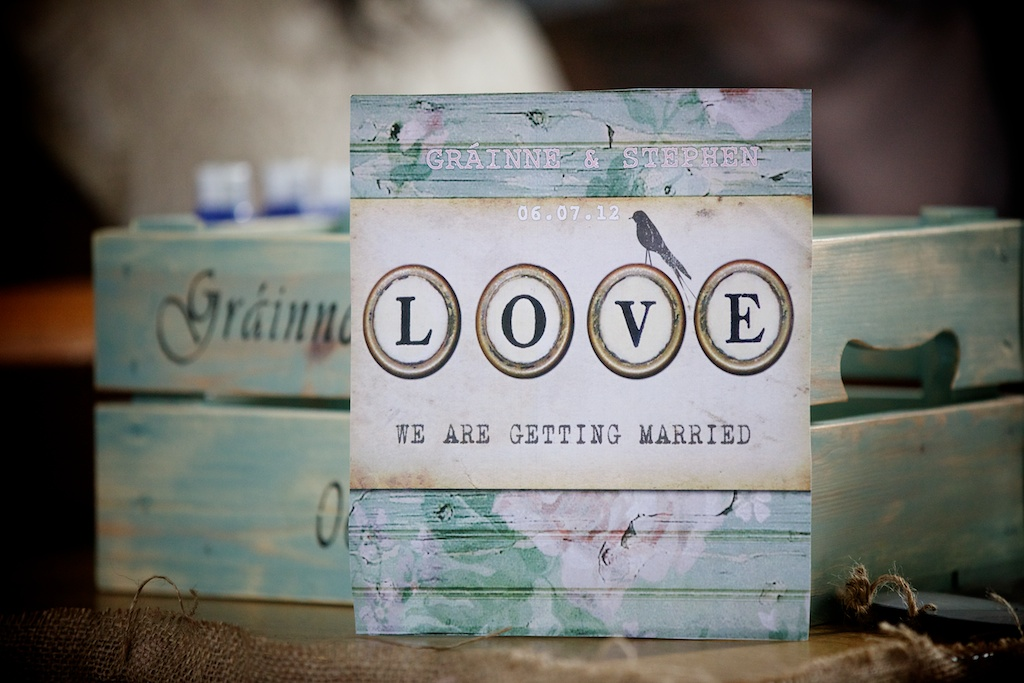 rustic love wedding mass booklet