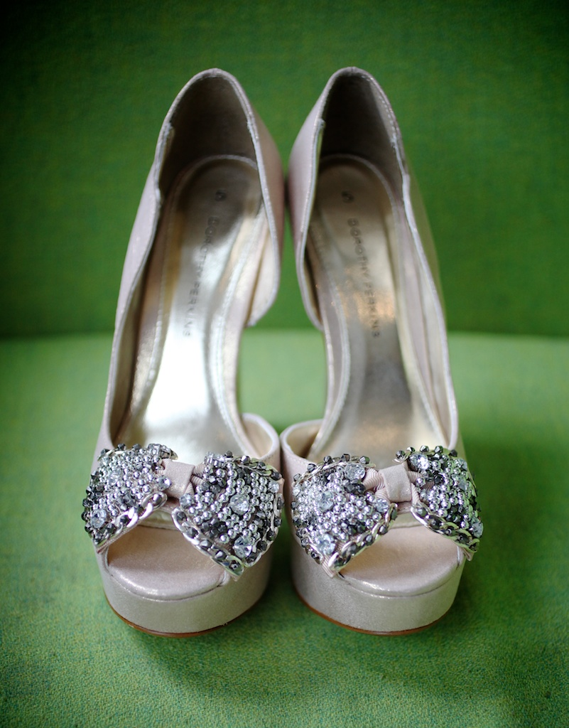 silver wedding shoes peep toe platform