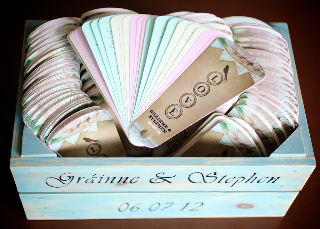 rustic style wedding mass booklets