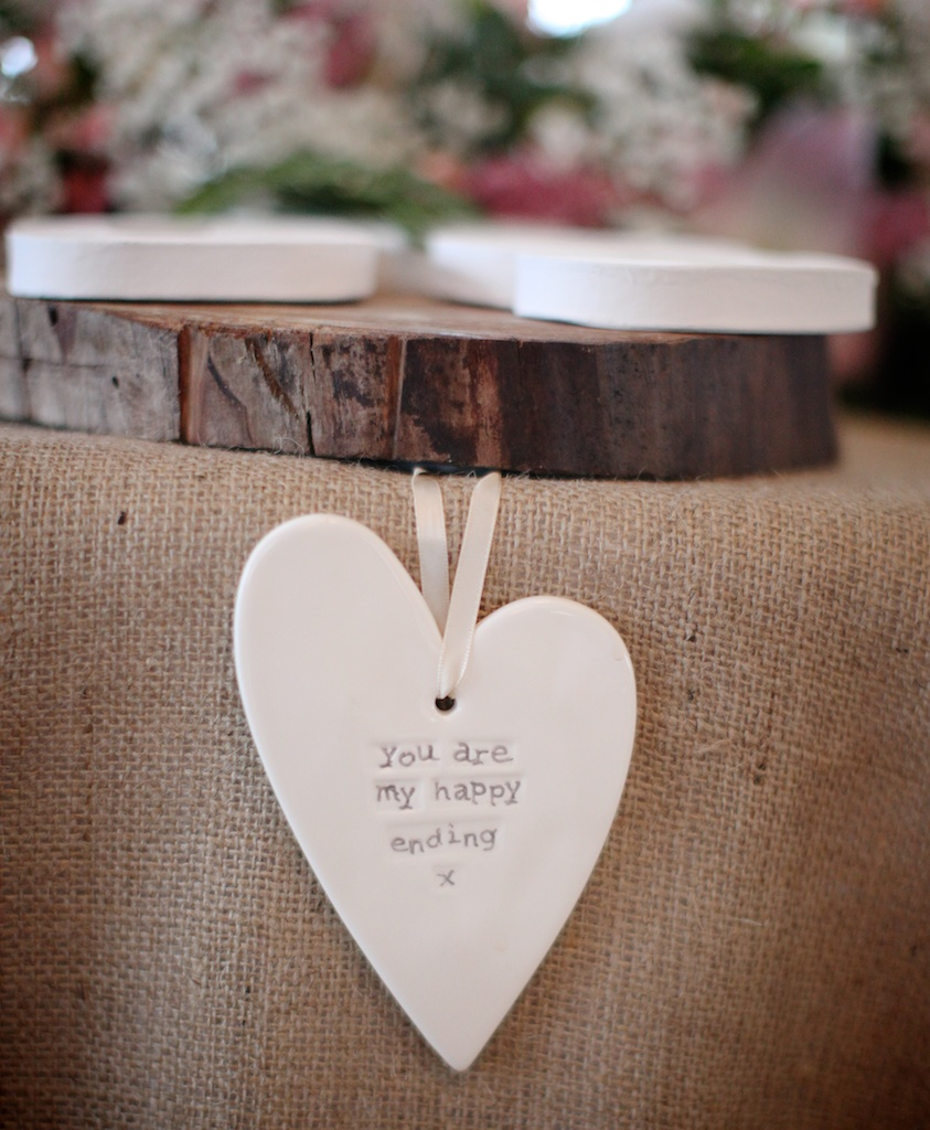 personalised heart wedding favour