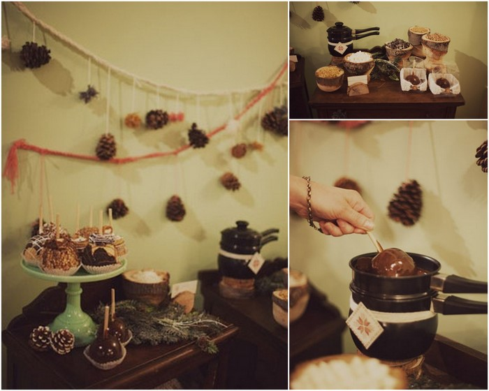 chocolate apple station winter wedding