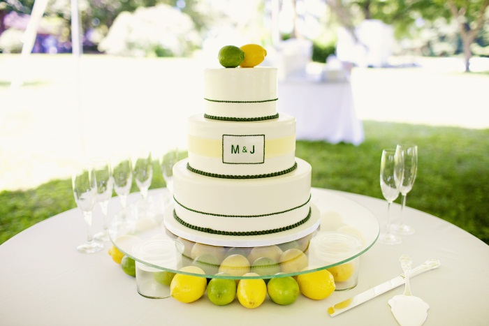 lemon and lime wedding cake Modern Cake This monogrammed delight is the