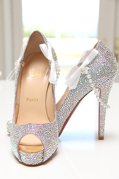 christian louboutin wedding shoes 2013 silver spakle