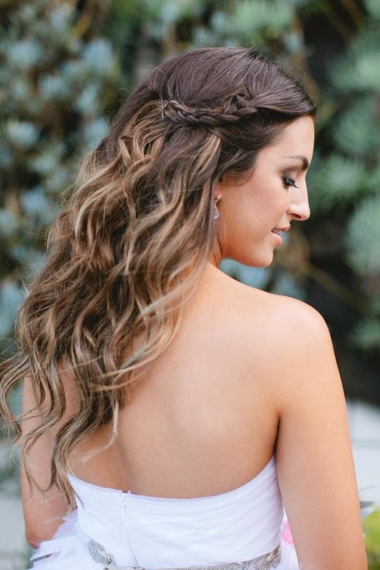 ombre wedding hair bride down waves