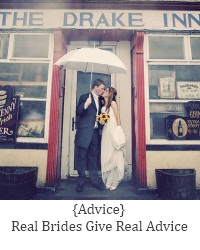 real advice from real brides