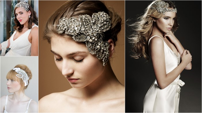 rhinestone headpiece bridal
