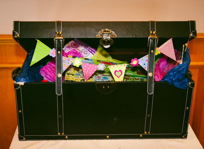 treasure chest filled with bunting