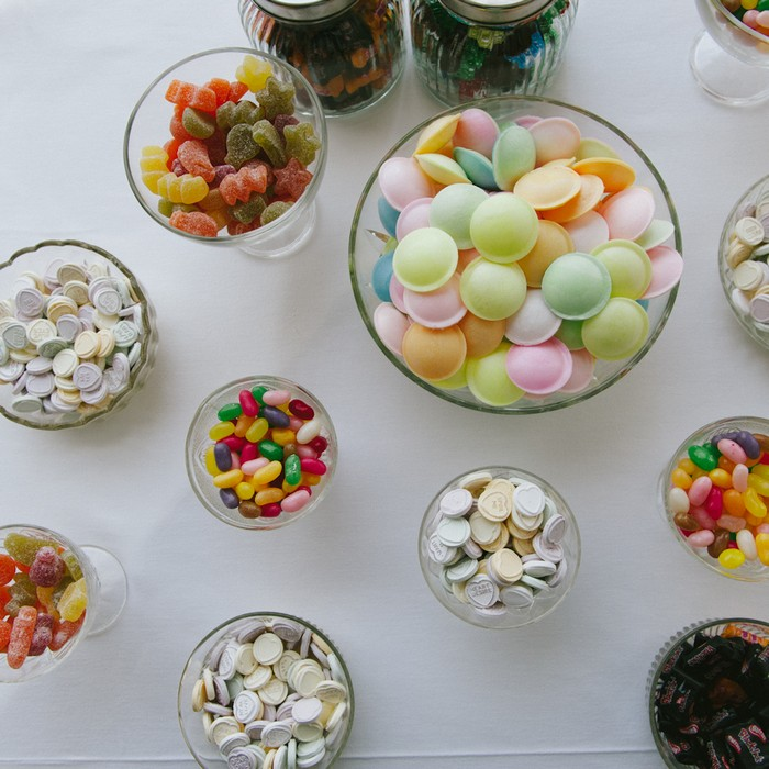 candy buffet table wedding