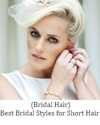 brides short hair styles
