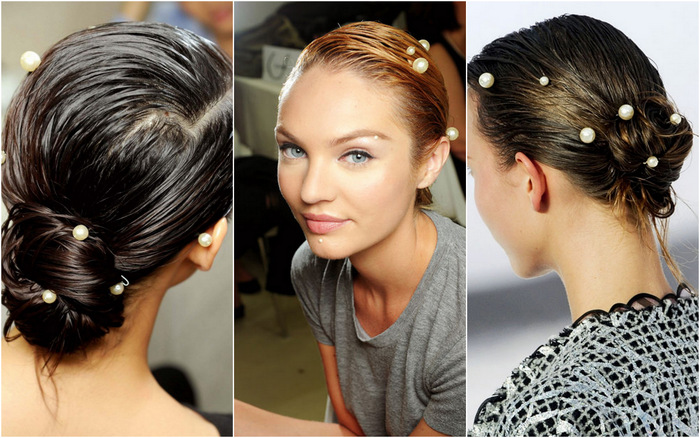 pearls in hair chanel 2012