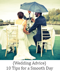 tips for the day of the wedding