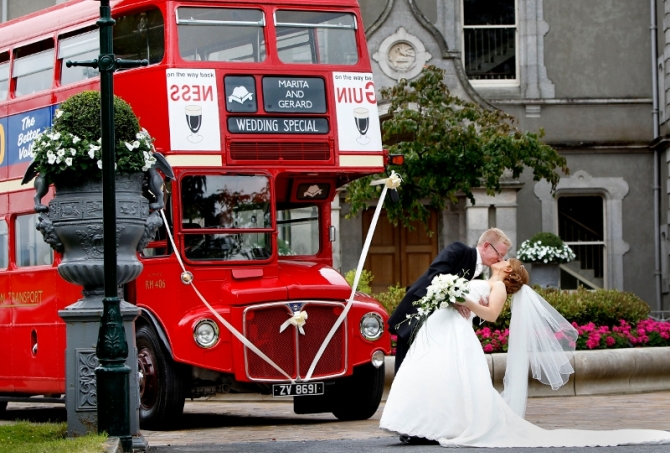 The Red Vintage Bus Wedding Ireland
