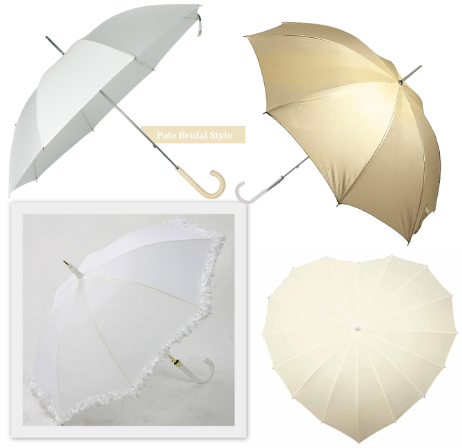 Umbrellas Wedding White Cream Gold Ireland