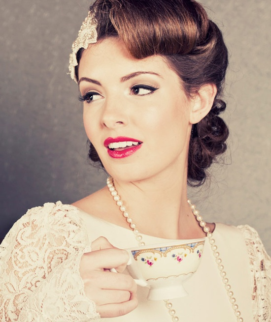 10 Vintage Wedding Hair Styles