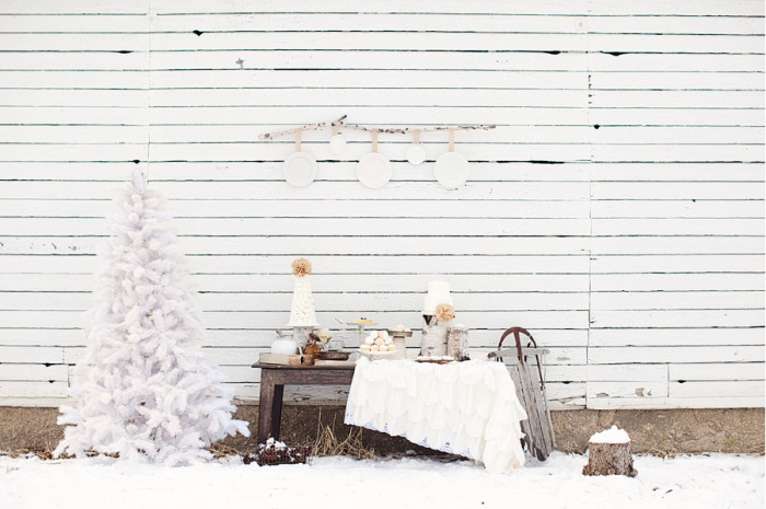 winter decor outdoors winter wedding