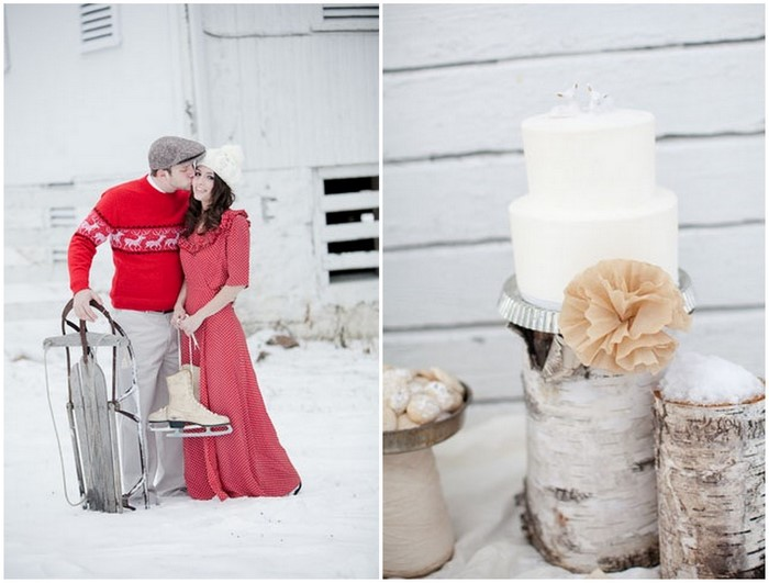 winter snow wedding