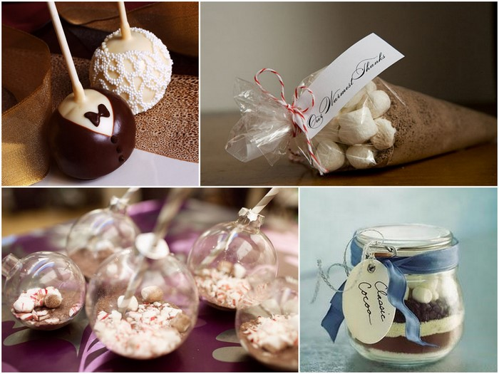 edible favours winter wedding