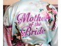 Personalised Floral Satin Mother of the Bride Robe | WowWee.ie