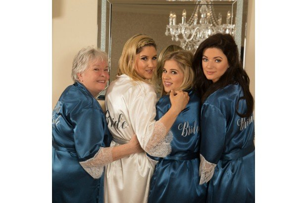 Bridal Party Robes Personalised by WowWee.ie in Dreamy Blue