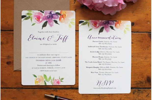 Summer Floral Wedding Invitations - Mass Booklets - Table Plan Designs | Parlour Press Wedding Stationery